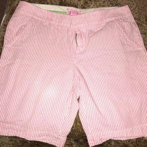 Lilly Pulitzer Seersucker Bermuda Shorts
